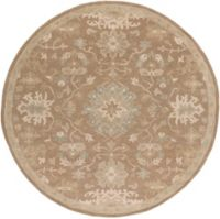 Surya Caesar 4' Handcrafted Round Area Rug in Brown/Grey