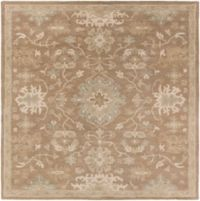 Surya Caesar 4' Handcrafted Square Area Rug in Brown/Grey