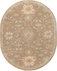 Surya Caesar 6' x 9' Oval Area Rug in Brown/Grey