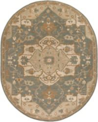 Surya Caesar 6' x 9' Oval Area Rug in Grey/Camel