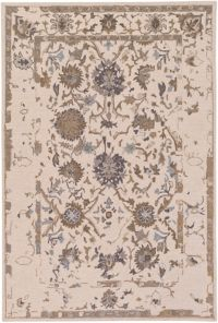 Surya Castille Classic 5' x 7'6 Handcrafted Area Rug in Neutral/Brown