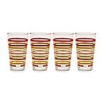 Fiesta® Multi-Color Stripe Highball 16-Ounce Cooler Glasses (Set of 4)