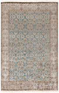Surya Theodora 5' x 8' Area Rug in Teal/Charcoal