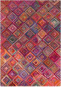 Surya Boho Modern 9' x 13' Area Rug in Bright Purple