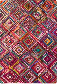 Surya Boho Modern 5'6 x 8'6 Area Rug in Bright Purple