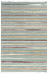 Suyra Miguel Striped 9' x 13' Area Rug in Aqua