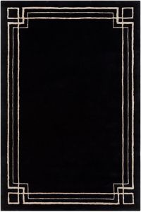 Surya Intermezzo 5' x 7'6 Area Rug in Black/Beige