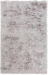 Surya Stealth 5' x 8' Shag Area Rug in Light Grey