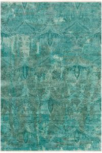 Surya Cheshire Medallion 5'6 x 8'6 Indoor/Outdoor Area Rug in Aqua