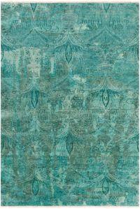 Surya Cheshire Medallion 8'6 x 11'6 Indoor/Outdoor Area Rug in Aqua