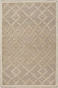 Surya Brighton Geometric 6' x 9' Area Rug in Light Grey