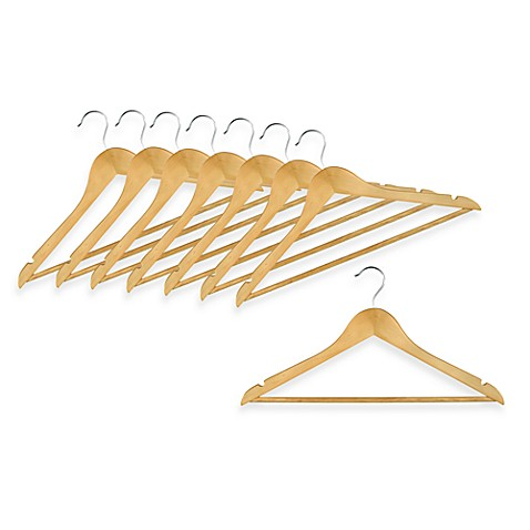 Blonde Wood Hangers - Set of 8