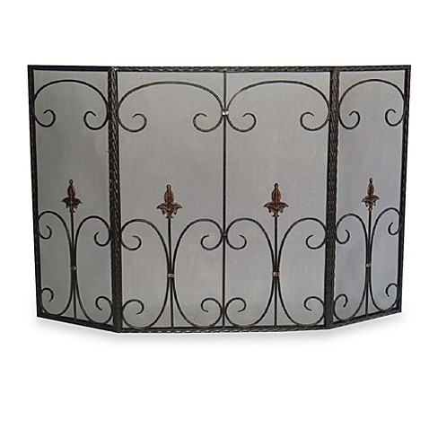 Tri Fold Fleur De Lis Fireplace Screen Bed Bath Amp Beyond
