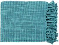 Surya Tori Throw Blanket in Teal