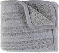 Surya Tucker Throw Blanket in Silver/Grey