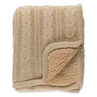 Surya Tucker Throw Blanket in Beige