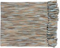 Surya Teegan Oversized Throw Blanket in Blue/Grey