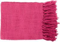 Surya Tilda Throw Blanket in Bright Pink
