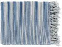 Surya Tanga Throw Blanket in Navy/Bright Blue