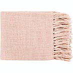 Surya Tilda Throw Blanket in Pale Pink