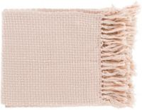 Surya Tierney Throw Blanket in Pink/White