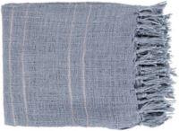 Surya Traveler Throw Blanket in Denim/Taupe