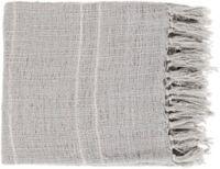 Surya Traveler Throw Blanket in Ice Blue/White