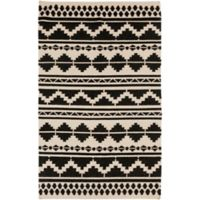 Surya Frontier Southwest 3'6 x 5'6 Area Rug in Taupe/Black