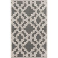 Surya Modern Classics Moroccan Trellis 5' x 8' Area Rug in Charcoal