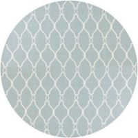 Surya Fallon 8' Round Handwoven Area Rug in Bright Blue