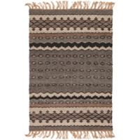Surya Camel Striped 2' x 3' Accent Rug in Brown/Khaki