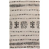 Surya Denali 2' x 3' Hand-Knotted Accent Rug in Khaki/Black