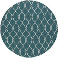 Surya Fallon 8' Round Handwoven Area Rug in Medium Grey