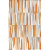Surya Frontier Geometric 2' x 3' Accent Rug in Burnt Orange