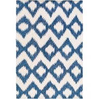 Surya Frontier Global 9' x 13' Area Rug in Navy/Cream