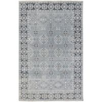 Surya Cappadocia Vintage-Inspired 2' x 3' Accent Rug in Teal/Black