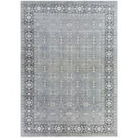 Surya Cappadocia Vintage-Inspired 8' x 11' Area Rug in Teal/Black