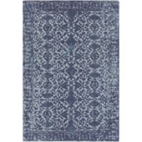 Surya D'Orsay Floral Medallion 2' x 3' Accent Rug in Blue Denim
