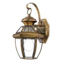 Quoizel® Newbury Small 1-Light Outdoor Wall Fixture in Antique Brass