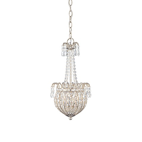 84383 Quoizel Jolene 2 Light Crystal Imperial Silver Pendant on light colors for living room