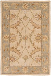Surya Clifton Classic Traditional 2' x 3' Handcrafted Accent Rug in Neutral/Grey