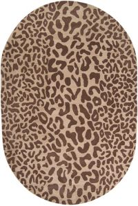 Surya Athena Animal Hand-Tufted 6' x 9' Oval Area Rug in Brown