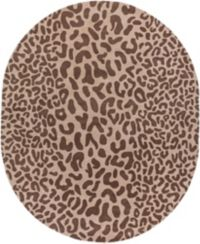 Surya Athena Animal Hand-Tufted 8' x 10' Oval Area Rug in Brown
