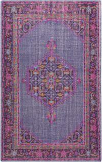 Surya Zahra Medallion 5'6 x 8'6 Area Rug in Purple/Pink