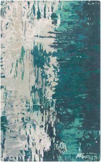 Surya Banshee Modern Hand-Tufted 5' x 8' Area Rug in Blue/Green