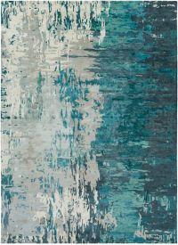 Surya Banshee Modern Hand-Tufted 8' x 11' Area Rug in Blue/Green