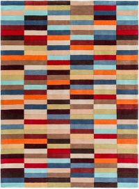 Surya Cosmopolitan Modern 8' x 11' Handcrafted Area Rug in Red/Orange