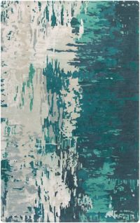 Surya Banshee Modern Hand-Tufted 2' x 3' Area Rug in Blue/Green