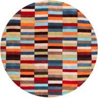 Surya Cosmopolitan Modern 8' Round Handcrafted Area Rug in Red/Orange