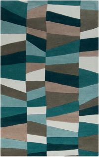Surya Cosmopolitan Geometric 9' x 13' Area Rug in Blue/Green